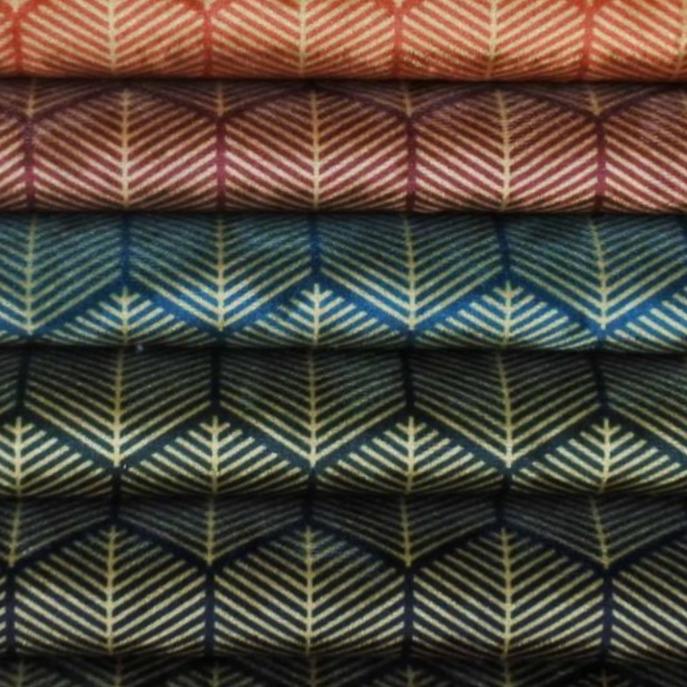 Ice Velvet Geometric Lines