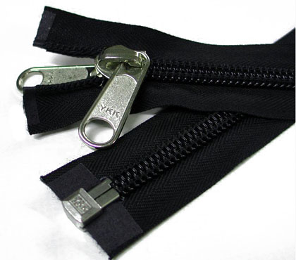 YKK divisible zippers, 10mm